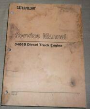 Cat Caterpillar 3406b Truck Service Shop Repair Manual Book Sn 4mg 7fb