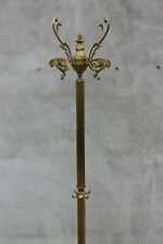 Vintage Standing Brass Column Stand Coat Rack Ornamental Clothing Hanger