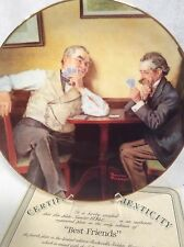 Best Friends Norman Rockwell Plate Coa