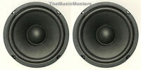 "Pair 6.5"" Home Audio WOOFER Speaker Cabinet Enclosure Stereo System Replacement"