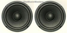 """Pair 6.5"""" Home Audio WOOFER Speaker Cabinet Enclosure Stereo System Replacement"""