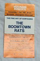 Original Eintrittskarte THE BOOMTOWN RATS Mannheim 1980