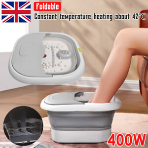 Electric Foot Bath Spa Pedicure Water Heating Bubble Massage Folding Collapsible