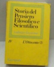 )STORIA DEL PENSIERO FILOSOFICO E SCIENTIFICO di L.GEYMONAT L'OTTOCENTO (1)