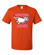 Unicorn Squad T-Shirt Fantasy Rainbow Magical Cute Fairy Tale Tee Shirt