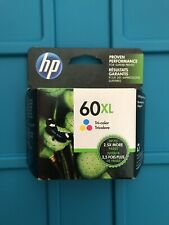 Original Genuine HP 60XL Tricolor Ink Cartridge CC644WN Exp 2021 Free Shipping