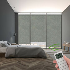 100% Blackout Remote Control Motorized Window Roller Shade Blind, H15814-4