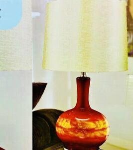 HD design Harper Table Lamp Red/ Gold Base Also Light Up Switch W/ Bulb Included