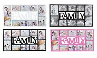 Large Family 10 Multi Picture Aperture Photo Wall Frame Black,Brown,Pink,/White