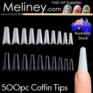 500Pc Coffin Tips Nails Manicure Long Square False Finger tips Fake Nail Acrylic