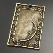 14pcs Antique Style Bronze Tone Alloy Photo Frame Moon Pendant Charms 30mm