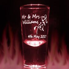 Bulk Personalised Engraved Shot Glass Wedding Favour Favors Stag Hen Night Party