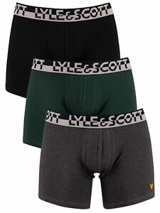 Lyle & Scott Men's 3 Pack Comfort Fit Trunks, Multicoloured