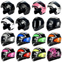 1Storm Motorcycle Modular Full Face Helmet Flip up Dual Shield Sun Visor DOT NEW