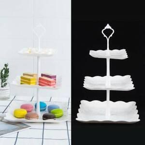 3-Etagere Dessert Display Kuchenstand Muffin Obst Halter für Party Hochzeit usw