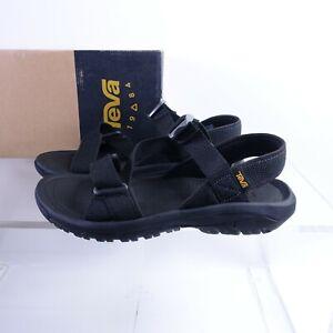 Size 10 Men's Teva Hurricane XLT2 Cross Strap Sport Sandals 1091589 Black