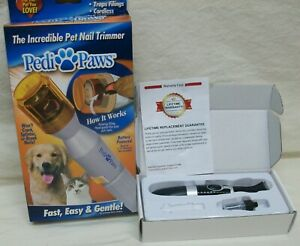 """2 NEW Pet Grooming: """"Pedi-Paws"""" Electric Nail Trimmer & """"Oneisall"""" Clipper NIB"""
