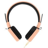 Casque Audio Filaire et Câble Jack 3.5mm Fonction Micro et Pliable GJ-14 Rose