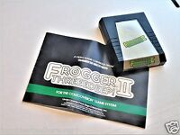 NTSC ColecoVision Frogger 2 II with Manual Coleco Vision Video Game System