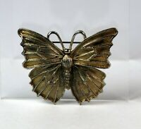 Vintage Gold Tone Figural Butterfly Brooch