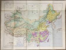 Map China / Carte Economique de la Chine 1954