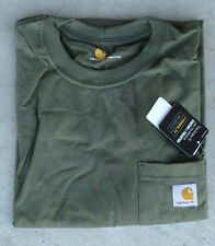 Carhartt Men's K87 Workwear Pocket T-Shirt - Army Green -2 XL - Reg