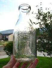 EMBOSSED QUART old SAN FRANCISCO DAIRY CO. milk bottle CALIFORNIA CA Turk St.