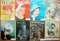8 1940's 1950's McCall's Mags Articles, ADs & Fashion Coke War Time