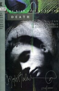 Sandman: Death High Cost of Living 1 2 3 Signed Bachalo LTD Set w/COA Gaiman