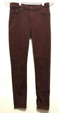 Hudson Womens Maroon Colored Skinny Mid-Rise Ankle Jeans 27 Leverage TV Wardrobe