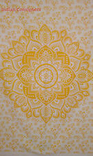 Ombre Mandala Cotton Tapestry Yellow Wall Hanging Poster 40*30 Ethnic HippyThrow