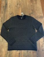 NEW Magaschoni Man Men's Size Small Wool Yak Blend Gray Crew Neck Sweater $298