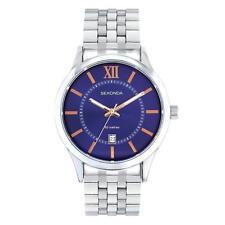 Sekonda 1197 Gents Quartz Analogue Date Purple Dial Bracelet Watch RRP £59.99