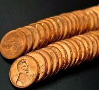 FULL UNCIRCULATED WHEAT CENT ROLL! OLD BANK ROLLS BU PENNIES UNC RANDOM DATES!