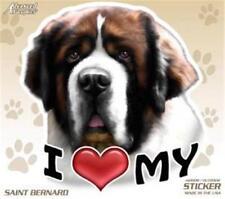 """I Love My Saint Bernard Dog 4"""" Car Truck Home Vinyl Sticker Decal Pet Gift Usa"""
