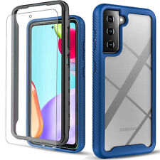 For Samsung Galaxy S21 Plus Ultra 5G Case, Shockproof + Tempered Glass Protector