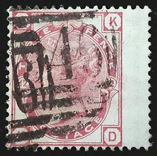 Great Britain Stamp 1873 3d Queen Victoria Plate 12 Scott # 61 SG143 Used