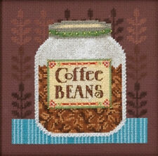 Cross Stitch Kit ~ Mill Hill / Debbie Mumm Jar of Coffee Beans #DM30-1616