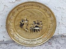 Vintage Brass Wall Art Repousse English Pub Scene Bar Decor Made In England