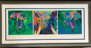 """Leroy Neiman Hand Pulled Serigraph on Paper: """"Elephant Triptych"""""""