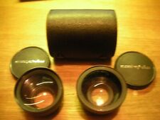 CASED MAMIYA SEKOR TELE CONVERTER LENS AND WIDE CONVERSION LENS FOR 528 TL