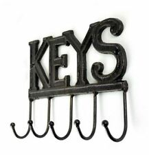 5 Hook Cast Iron Metal Rustic Key Hook Holder Rack