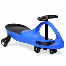 Swing Car Swivel Slider Kids Ride on Toy Stable Wiggle Scooter Safe Speed Blue