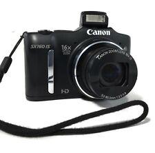 CANON PowerShot SX160 IS Digital Camera WORKS w/DEFECTS 6354B001 + 1GB SD Card