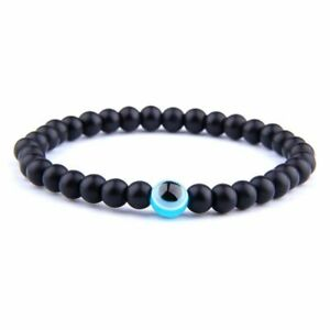 1pc Stone Evil Eye Bracelets Men Stoned Beads Bracelet Women Fashion Jewelry Acc
