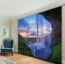 3D Waterfall Curtains Luxury Blackout Window Curtain for Living Room Drapes