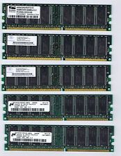 Five PC3200 DDR400 256MB DESKTOP RAM
