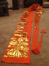 Dragons Parade Banner Orange Gold Fabric 23 Feet