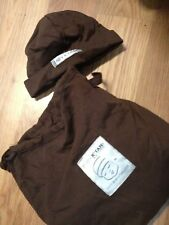 NEW BABY Infant CARRIER SLING K'TAN Hat & Pouch BROWN 100% COTTON 8-35 lbs GIFT