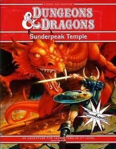 D and D 4th Edition Red Box Games Day Sunderpeak Temple Module ( 2010 )